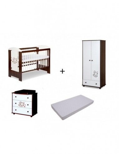 Mobilier Klups Teddy with stars wenge 2 - imaginea 1
