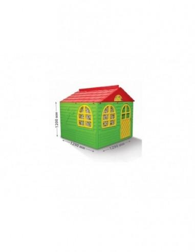 Casuta de joaca MyKids 02550/3 Green/Red - Mid - imaginea 1