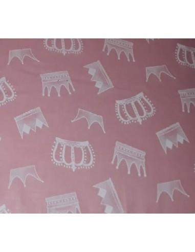 Lenjerie MyKids Crowns Pink 4+1 Piese 120x60 - imaginea 1